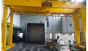 Test Bed with Crane Facilty